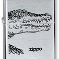 Зажигалка ZIPPO Alligator Brushed Chrome,латунь,ник-хром.покр., сереб.,матов.,36х56х12мм